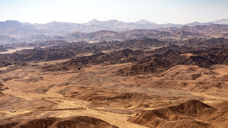 Sahara desert between the Nile river and the Red Sea - Egypt